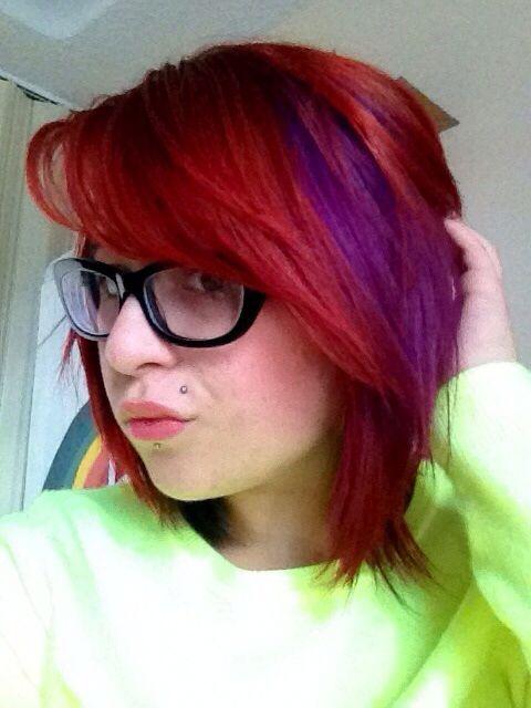 Red & Purple Hair.