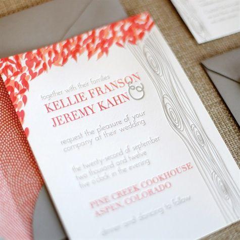 真っ赤なもみじがおしゃれな招待状♪秋の結婚式の招待状一覧♪