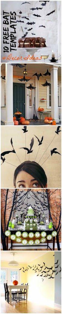 Free Bat Templates and Halloween Decor Ideas | Ella Claire