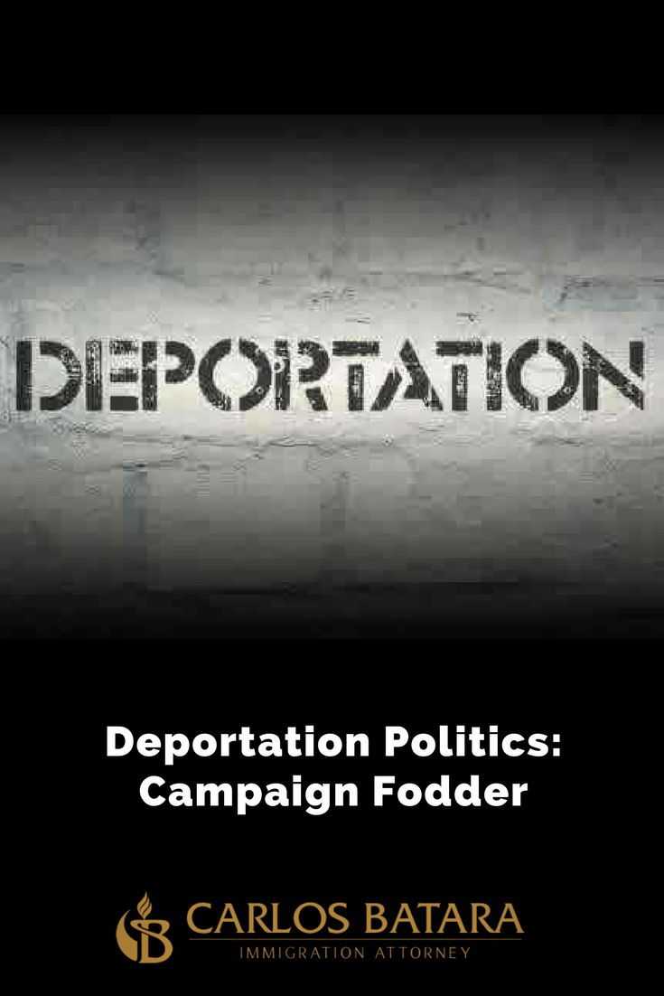 The Politics Of Deportations: Immigrants As Election Fodder  The immigration judge was not in a good mood.  Before my client's removal hearing began, the judge scolded the detention officer.  As a deportation defense lawyer, it was clear the Immigration and Customs Enforcement war