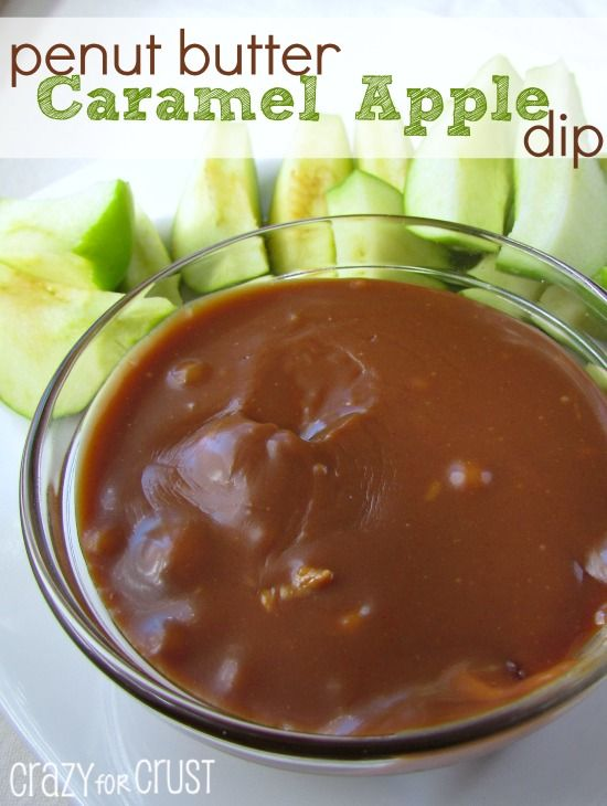 Peanut Butter Caramel Apple Dip - easy to make and oh so good! | crazyforcrust.com | #apple #peanutbutter #caramel