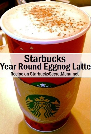 The Eggnog Latte doesn't have to be seasonal! Try our Year Round taste-a-like recipe!