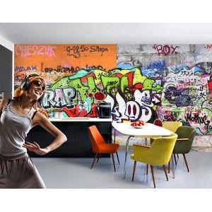 Glasvlies behang graffiti
