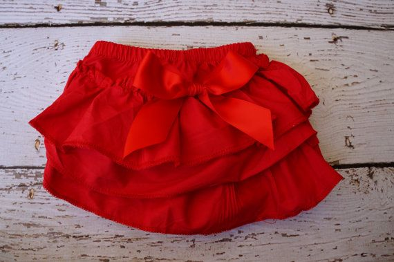 Christmas diaper Cover - red Baby Diaper Cover - Ruffle Diaper Cover - Ruffle Bloomers - Newborn Diaper cover - Toddler - Diaper cover set on Etsy, $13.50