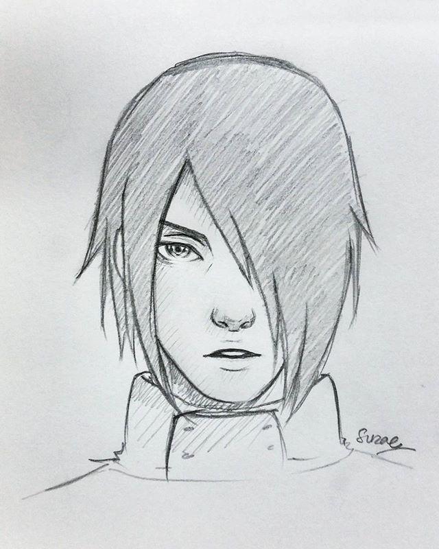 Sasuke Uchiha Naruto Sketch Drawing Naruto Sketch Naruto Drawings