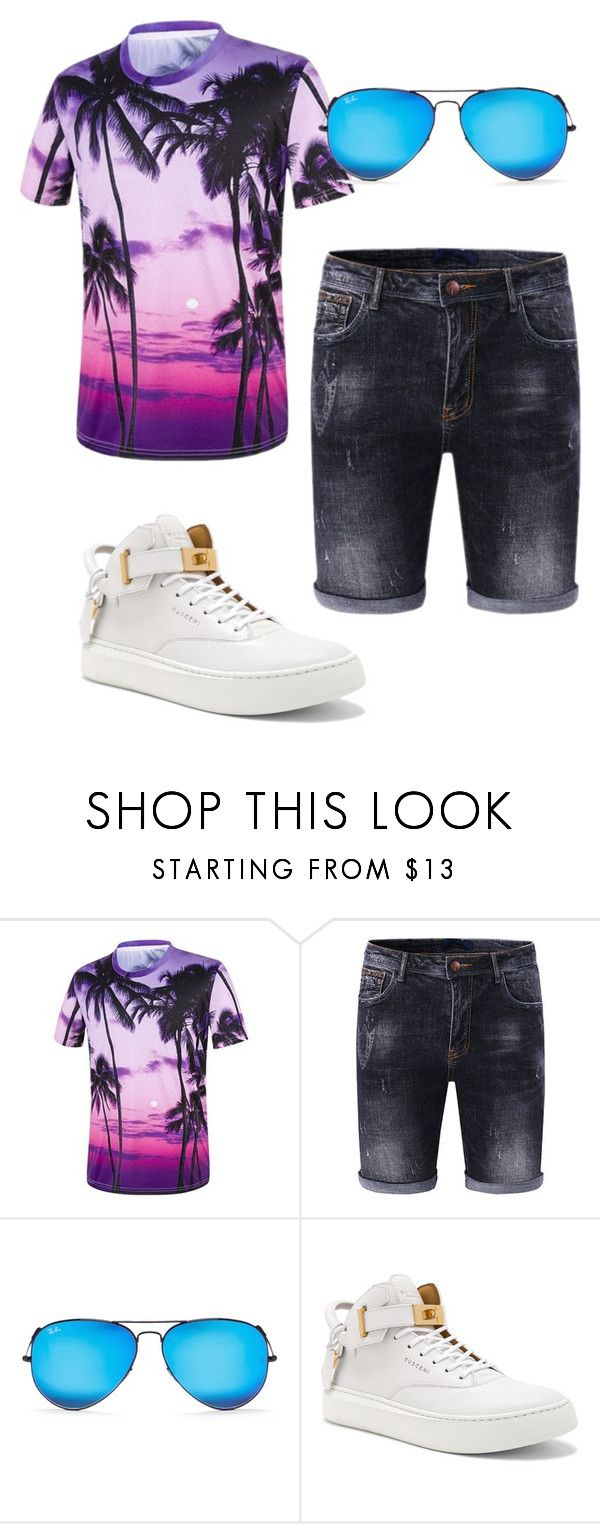 """🕶"" by mys-rugbjerg-risbank-jensen on Polyvore featuring Ray-Ban, BUSCEMI, men's fashion and menswear"