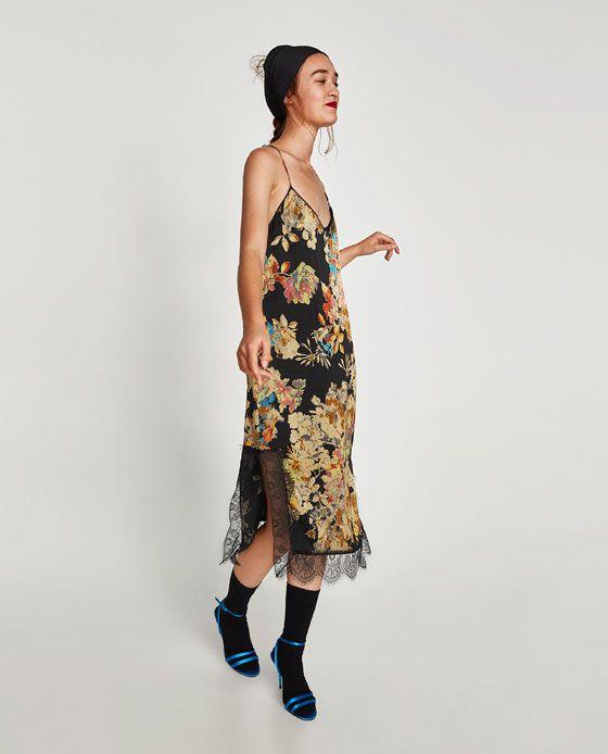 ZARA - TRF - PRINTED CAMISOLE DRESS