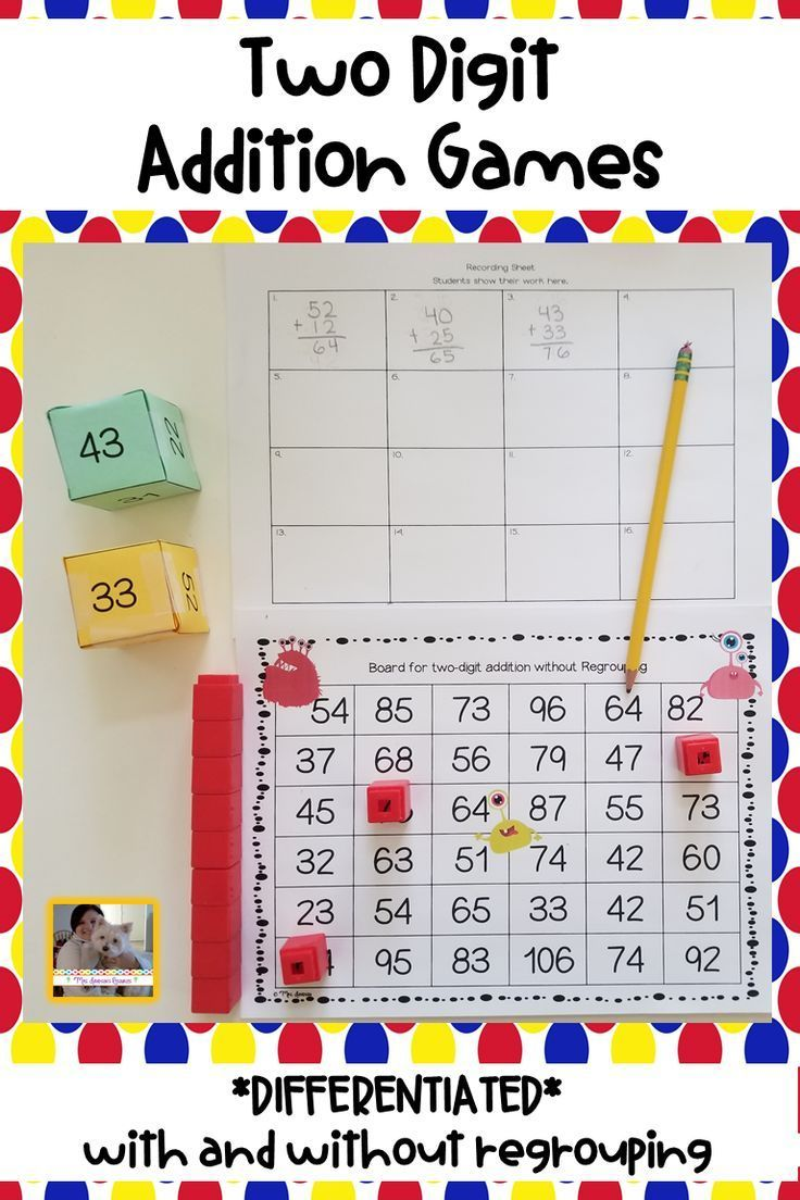 This Game Is A Fun Hands On Activity That Engages Students As They Practice Adding Two Digit Numbers With An Addition Games Math Resources Teaching Elementary Math addition games grade