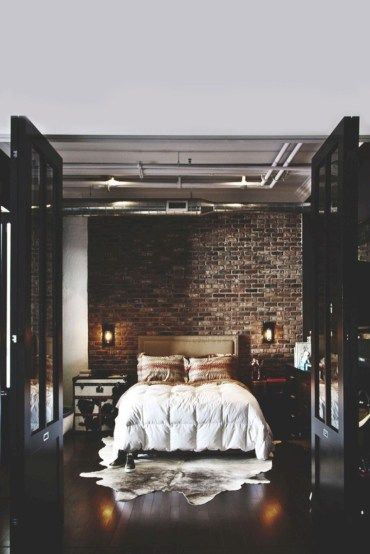 Nice 38 Adorable Bedrooms Design Ideas With Exposed Brick Walls. More at https://trendecor.co/2017/12/28/38-adorable-bedrooms-design-ideas-exposed-brick-walls/