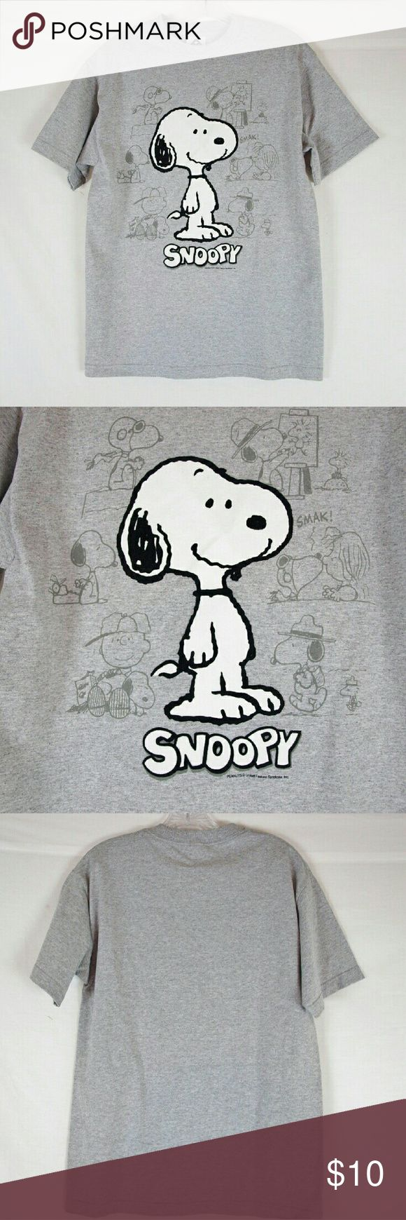 "Men's Peanuts Snoopy T-Shirt Size M In excellent condition (worn once). Armpit to armpit: 19"" & length 28"". Material 90% cotton & 10 polyester. Add to a bundle to receive 20% off 3 or more items. Offers welcomed. bin c3. Alstyle Apparel Shirts Tees - Short Sleeve"