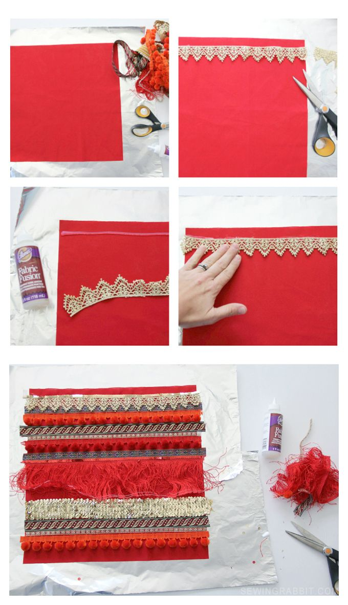 How to make your own DIY fringe boho pillow