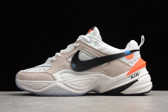 2018 Off White X Nike M2k Tekno Beige White Outlet Sale Sneakers Men Fashion Sneakers Men Jordan Shoes Outlet