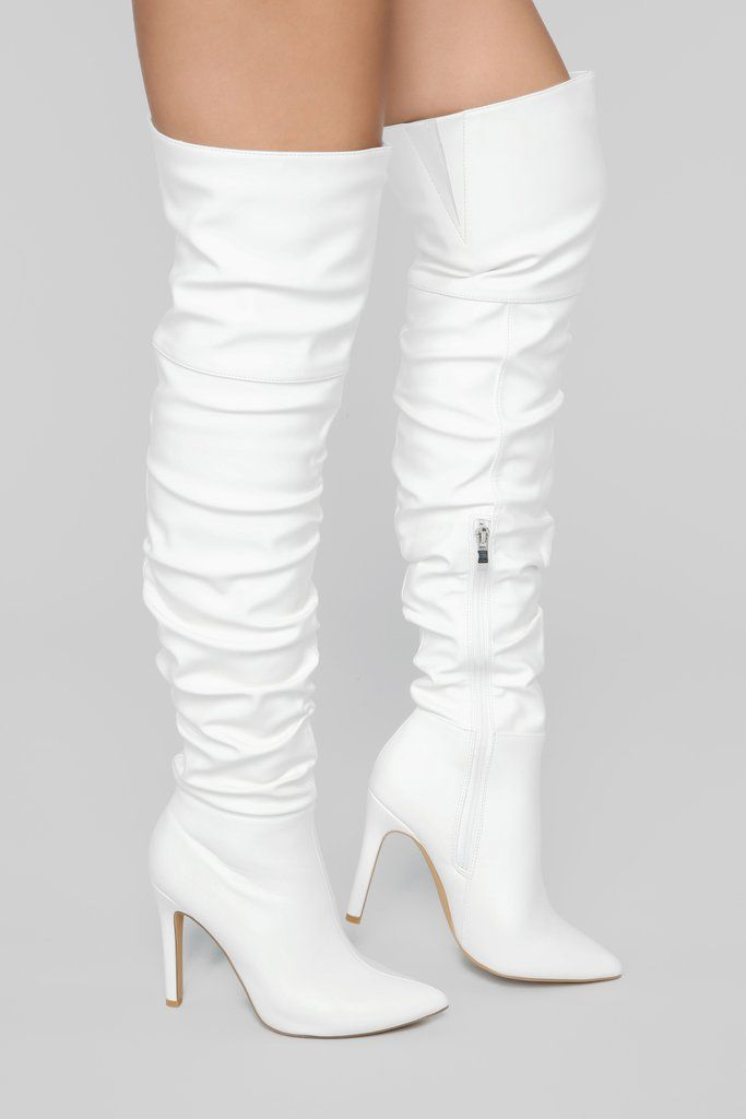 cc59c3418 Stay Away From Me Heeled Boot - White in 2019