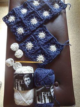 かぎ針編みで編むシックなブランケット☆