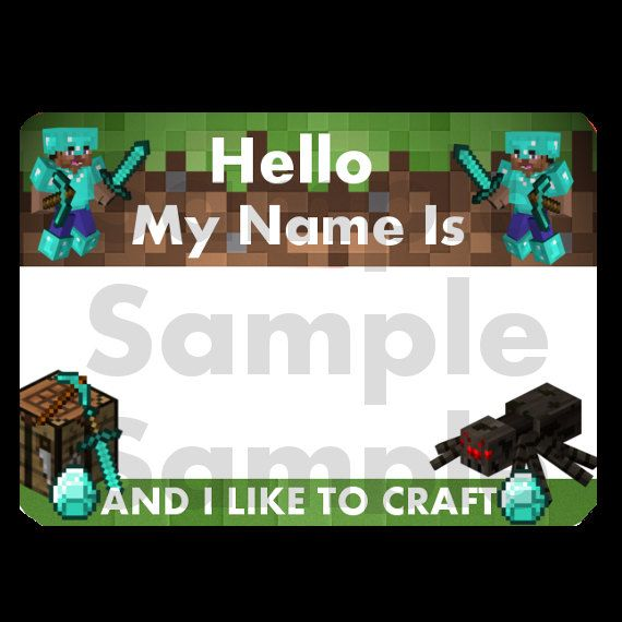 Name Tag Minecraft 63 best minecraft birthday party images on pinterest | birthday