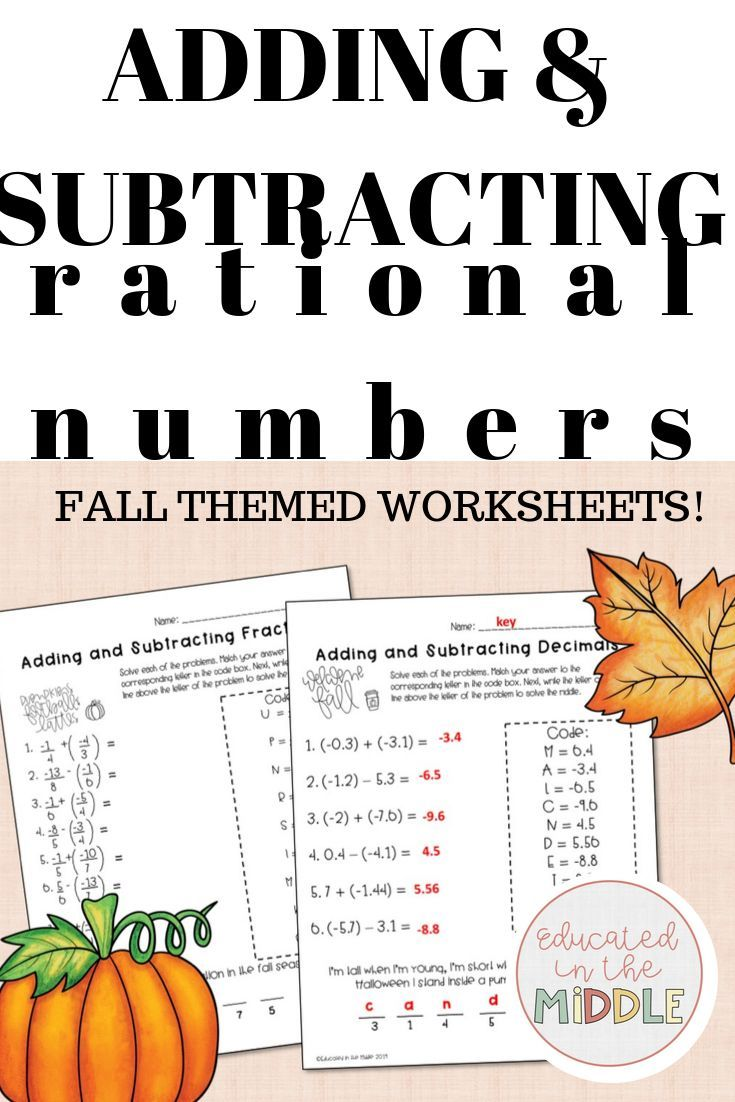 Adding And Subtracting Rational Number Activities These Activities Are Engaging For Stu Subtracting Rational Numbers Number Worksheets Adding Rational Numbers