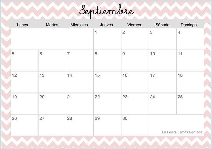 Resultado de imagen para calendario septiembre 2016