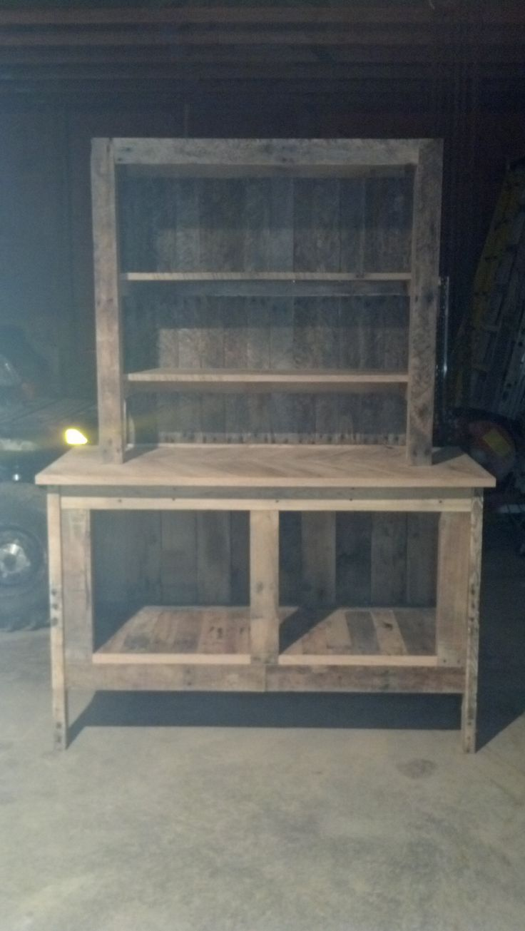 my first cabinet I built out of old pallets