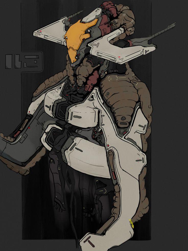ArtStation - OBSRVR Alien Suit Sketch, Alex Senechal