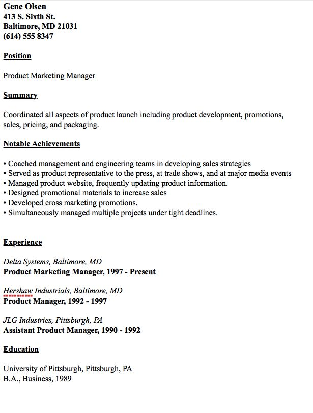 cafeteria manager sample resume