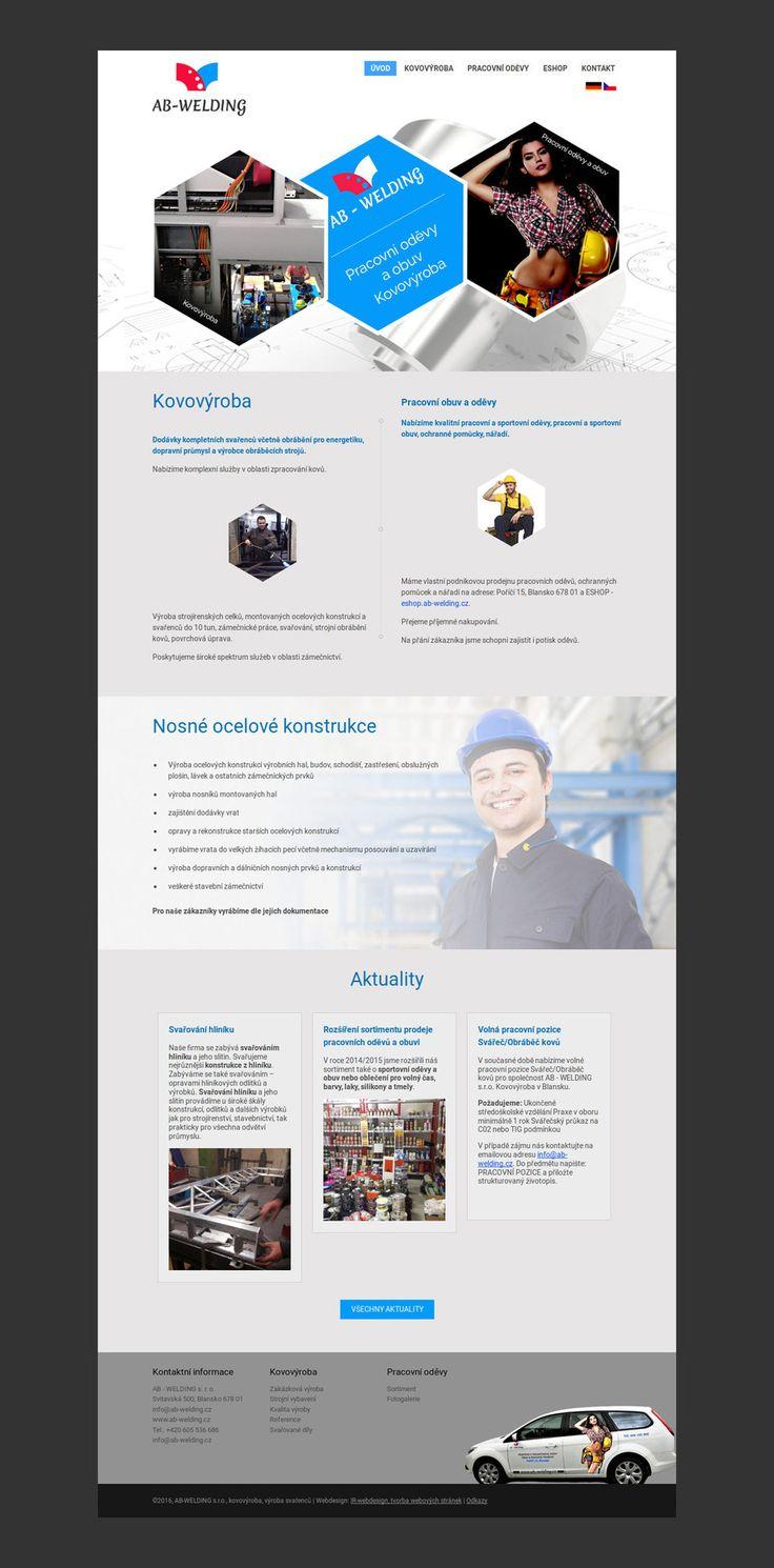 Webové stránky z oblasti strojírenství on Behance