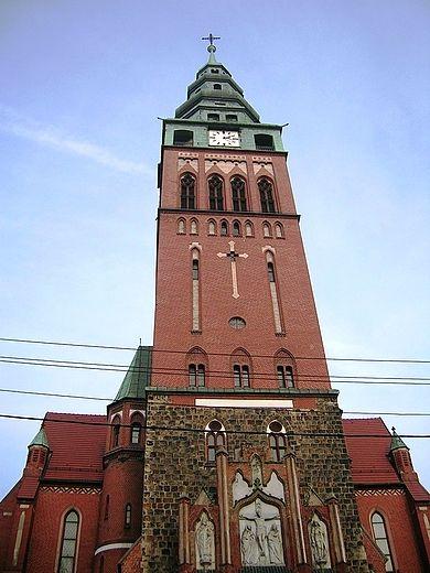 Gliwice. Kościół św. Bartłomieja - wieża 92m