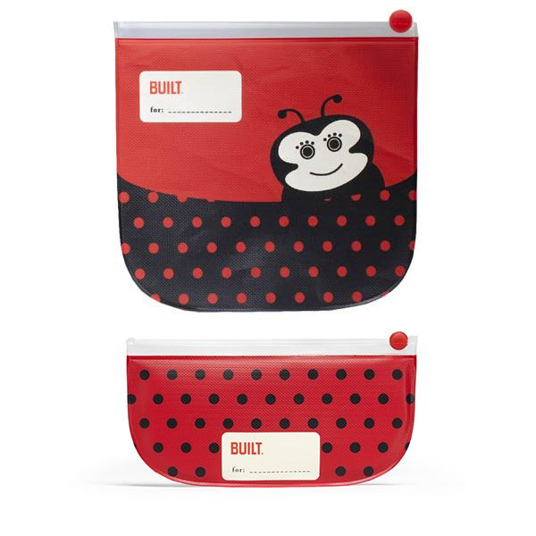 Adorably cute lady bug sandwich and snack pack duo.. Reusable and eco-friendly Sandwich & Snack Pack is fantastic and perfect for #backtoschool or #travel.  Your little one will look forward to lunch time with these cute little ladybug character inspired bags.  The set consists of 2 ziplock closure bags in both sandwich & snack size. New heat sealing technology keeps food fresh and crumb-free.