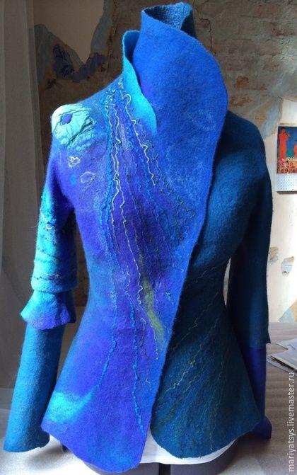 """Пиджаки, жакеты ручной работы. Ярмарка Мастеров - ручная работа. Купить """"В синем…"""