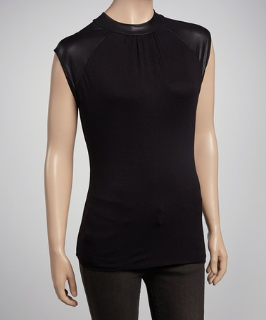 Take a look at this Black Via Teadore Top by HKR Collections on #zulily today!
