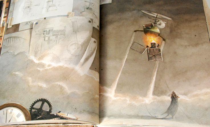 """Torben Kuhlmann: """"Lindbergh"""", czyli w tłumaczeniu na polski """"Niezwykłe przygody latającej myszy""""."""