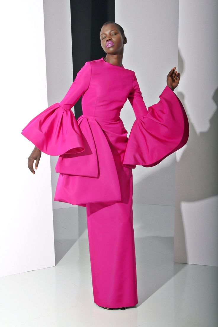 The lesser-known statement sleeve! You would need someone with presence and an ace tailor to give this Christian Siriano beaut the outing it deserves, but with the color and the shape, it would be *so* good.    - MarieClaire.com