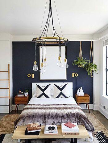 Camera da letto blu notte | Home nel 2019 | Camera da letto blu ...