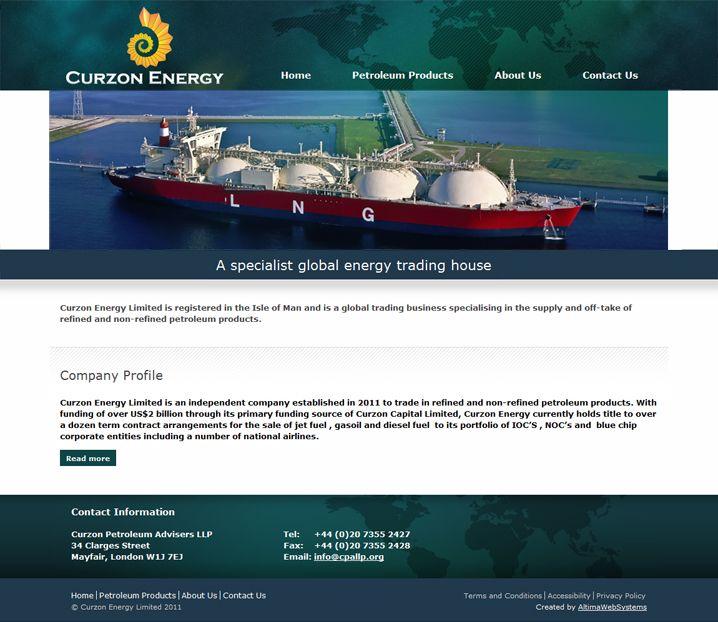 """Клиент: Curzon Energy Описание: Разработка веб-сайтов Curzon Energy Limited и Curzon Petroleum Advisers LLP для группы компаний Curzon Capital, для которых """"Алтима"""" уже разрабатывала веб-проекты в прошлом.  """"Алтима"""" выполнила работы по дизайну, верстке и программированию."""