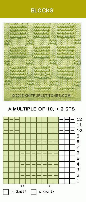All just knits and purls and easy to follow. This is the perfect project for a beginners