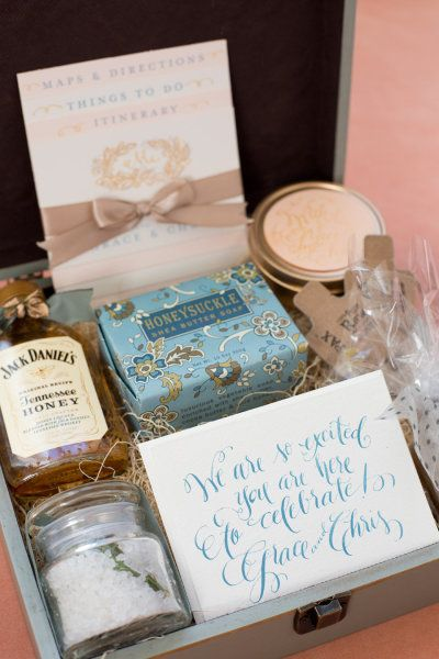 Destination Wedding Gift Baskets Guests : destination wedding gift or gift for out of town guests: Welcome Gifts ...
