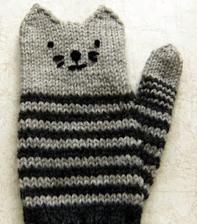 kitten mittens. Cute and quirky:)