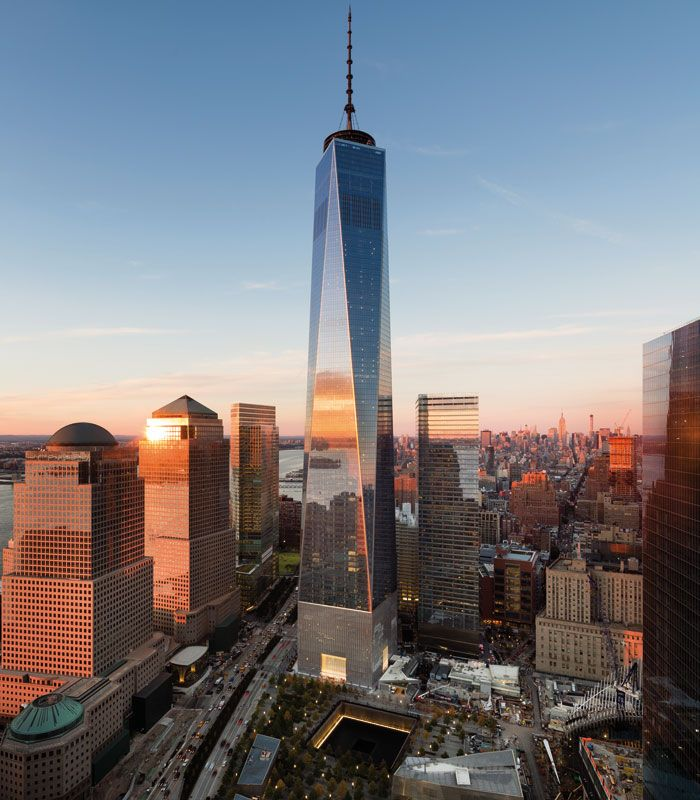 One World Trade Center, designed by Skidmore, Owings & Merrill and tallest of the new World Trade Center complex. Photo: James Ewing - OTTO