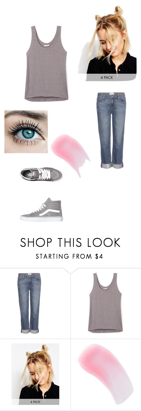 """Meeting France Again"" by maryvarleyrox ❤ liked on Polyvore featuring Paige Denim, Rebecca Minkoff, ASOS, Charlotte Tilbury and Vans"