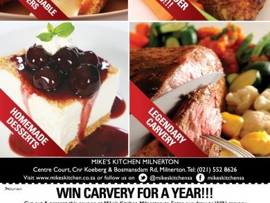 Mikes Kitchen Milnerton - WIN Carvery for a Year!