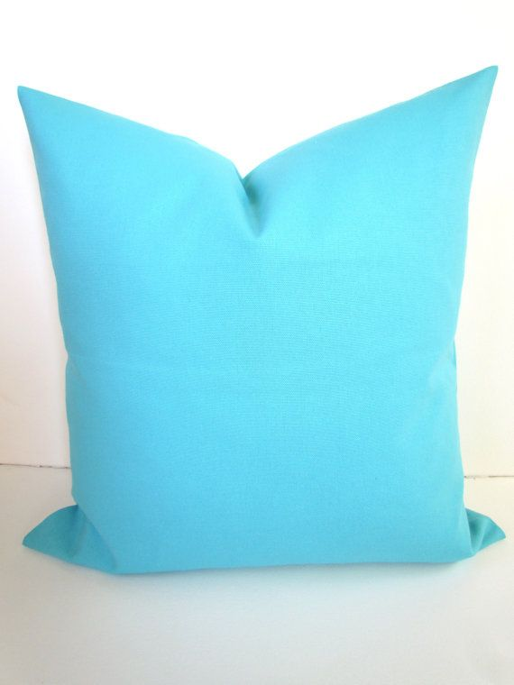Blue And Aqua Throw Pillows : PILLOW 20x20 Decorative Throw Pillows Cover 20 x 20 SOLID Aqua Blue Turquoise Pillow Covers ...
