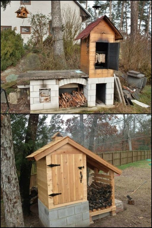 Want to smoke your own meat?Build yourself a cedar smokehouse!