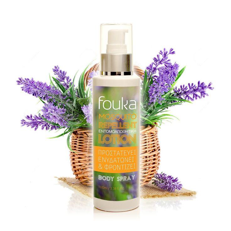 Fouka Mosquito Repellent Lotion Φυσική αντικουνουπική λοσιόν με  λεβάντα και τσουκνίδα 100ml