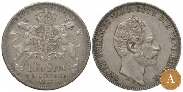 1 РИГСДАЛЕР 1856