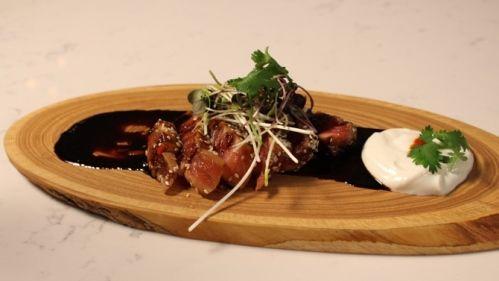 Tataki de thon du printemps à l'érable  De L'Émission ''Le goût de l'amour''