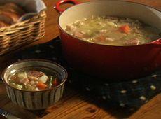 フランス田舎風 豆スープ  NHK 猫のしっぽ カエルの手 京都 大原 ベニシアの手づくり暮らし 「アンティークのくつろぎ」