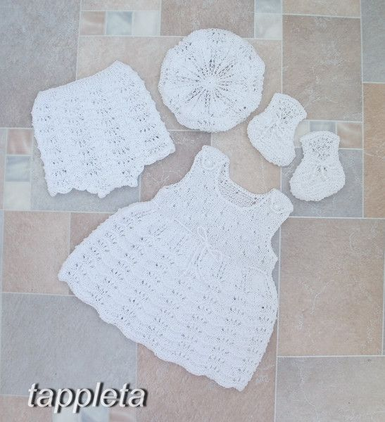 Sets – Set newborn babygirl summer dress, shorts, booties – a unique product by tappleta on DaWanda