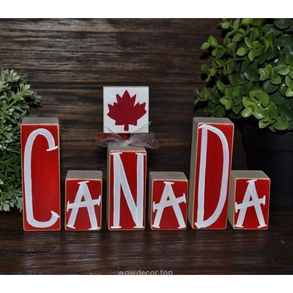 Canada Decor Patriotic Decoration Canadian Block Set Remembrance Day… ($20) …   http://www.wowdecor.top/2017/07/18/canada-decor-patriotic-decoration-canadian-block-set-remembrance-day-20/
