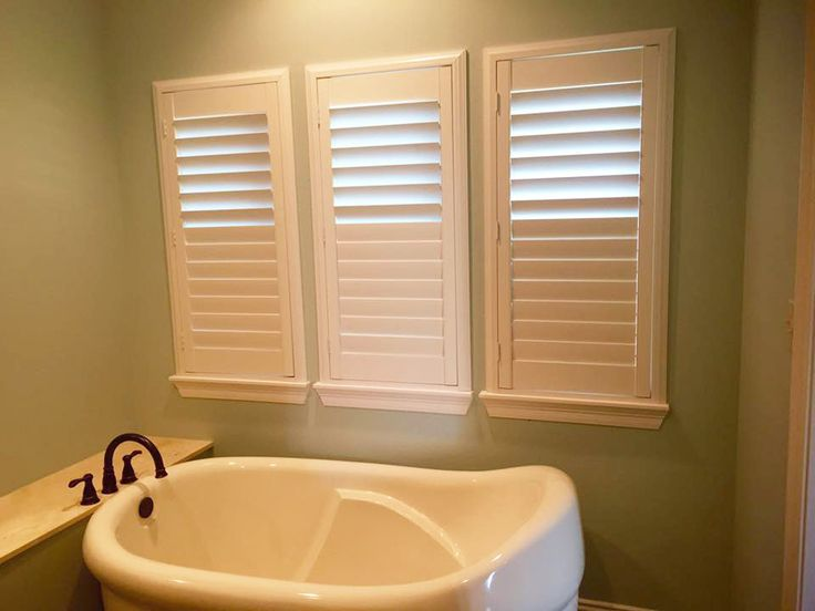 Our plantation shutters look great on the windows  Our. 162 best images about Bathroom Window Covering Ideas on Pinterest