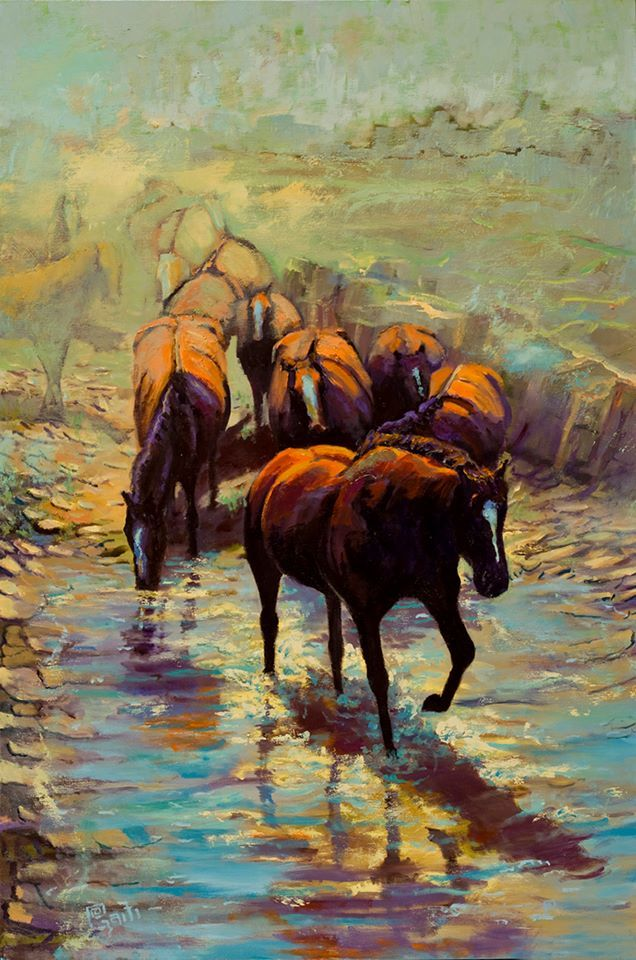 From a Far Off Place oil on canvas 36 x 24 Ritch Gaiti - Art of the Horse complete portfolio at www.Gaiti.com