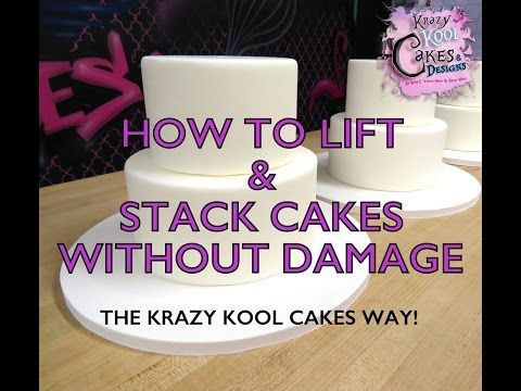 ▶ How To Lift & Stack Cakes Without Damage - YouTube